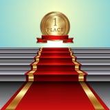 Ejemplo abstracto del vector de la alfombra roja encendido Imagen de archivo libre de regalías