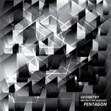 Ejemplo abstracto del vector de Pantagon del modelo del fondo de la geometría Imágenes de archivo libres de regalías