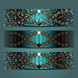 Ejemplo abstracto del vector de una DNA helicoidal ilustración del vector