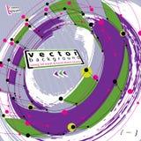 Ejemplo abstracto del vector del cepillo, vector del grunge Fotos de archivo