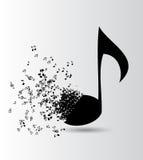 Ejemplo abstracto del vector del fondo de la música para Imagenes de archivo