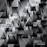 Ejemplo abstracto del vector del triángulo del modelo del fondo de la geometría Fotos de archivo