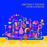 ejemplo abstracto del vector del diseño stock de ilustración