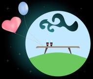 Ejemplo abstracto en el tema del amor ilustración del vector