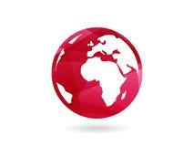Ejemplo abstracto geométrico colorido del concepto de la plantilla del gráfico de vector de la esfera del globo de la tierra aisl stock de ilustración