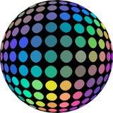 Ejemplo abstracto olográfico del globo 3d de los colores del arco iris Fondo blanco aislado ilustración del vector