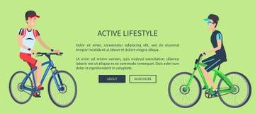 Ejemplo activo del vector de la tarjeta de deporte de la forma de vida libre illustration