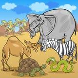 Ejemplo africano de la historieta de los animales del safari Imagenes de archivo