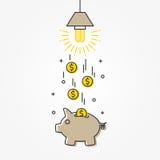 Ejemplo ahorro de energía del vector de la lámpara ilustración del vector