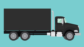 Ejemplo aislado camión negro de las ruedas grandes Imagen de archivo libre de regalías