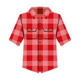 Ejemplo aislado camisa del vector de Cheskered stock de ilustración