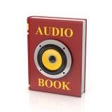 Ejemplo aislado 3d audio del libro Imagen de archivo libre de regalías