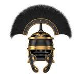 Ejemplo aislado 3d de Roman Helmet Imágenes de archivo libres de regalías