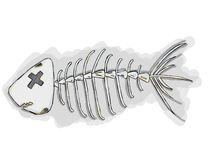 Huesos de pescados de la historieta Foto de archivo libre de regalías