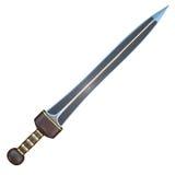 Ejemplo aislado de una espada del cortocircuito de Roman Gladius Fotografía de archivo libre de regalías