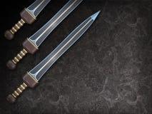 Ejemplo aislado de una espada del cortocircuito de Roman Gladius Imagenes de archivo