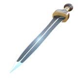 Ejemplo aislado de una espada del cortocircuito de Roman Gladius Fotos de archivo