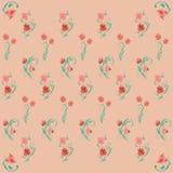 Ejemplo aislado fondo con las flores ilustración del vector