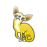 Ejemplo aislado perro lindo del vector de la chihuahua Foto de archivo libre de regalías