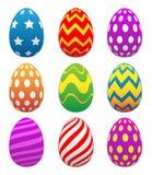 Ejemplo aislado pintado colorido del vector de los huevos de Pascua ilustración del vector