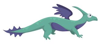 Ejemplo aislado vector animal prehistórico de Dino del dinosaurio ilustración del vector