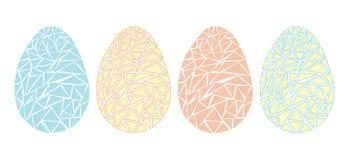 Ejemplo aislado vector de la estación de primavera de los huevos de Pascua del vintage Foto de archivo