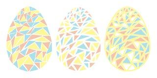 Ejemplo aislado vector de la estación de primavera de los huevos de Pascua del vintage imagen de archivo
