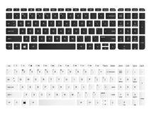 Ejemplo aislado vector del teclado de ordenador Versión blanco y negro libre illustration