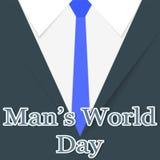 Ejemplo al banquete del Men& x27; día del mundo de s, saludos al men& x27; traje de s, diseño material Fotos de archivo libres de regalías