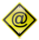Ejemplo amarillo de la muestra del att Imagenes de archivo