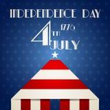 Ejemplo americano del Día de la Independencia Foto de archivo