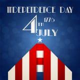 Ejemplo americano del Día de la Independencia Fotos de archivo libres de regalías