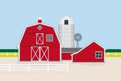 Ejemplo americano tradicional del vector de la granja Foto de archivo libre de regalías