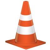 Ejemplo anaranjado del vector del cono del tráfico Fotos de archivo