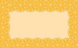 Ejemplo anaranjado del vector del marco (de la cal) libre illustration