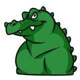 Ejemplo animal de la historieta del carácter del cocodrilo brutal fuerte stock de ilustración