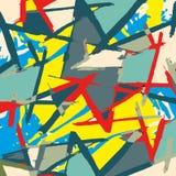 Ejemplo apacible abstracto hermoso del vector del modelo de la pintada Foto de archivo