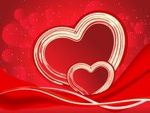 Ejemplo artístico abstracto del vector del corazón de la tarjeta del día de San Valentín Fotografía de archivo