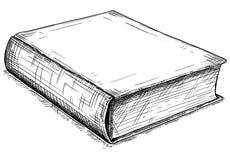 Ejemplo artístico del dibujo del vector del libro cerrado viejo libre illustration
