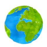 Ejemplo artístico del vector del globo de la tierra Fotos de archivo