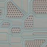Ejemplo artificial de la placa de circuito Imagen de archivo