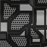 Ejemplo artificial de la placa de circuito Imagenes de archivo