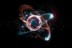 Ejemplo atómico de la partícula 3D Foto de archivo libre de regalías
