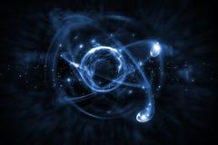 Ejemplo atómico de la partícula 3D Imagen de archivo