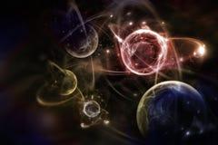 Ejemplo atómico de la partícula 3D Foto de archivo
