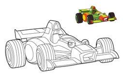 Ejemplo automotriz coloreado para los niños libre illustration