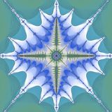 Ejemplo azul de la teja del ojo del extracto del fractal libre illustration