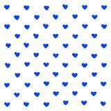 Ejemplo azul de los corazones en el fondo blanco Extracto de la tarjeta de la invitaci?n Impresi?n geom?trica Fondos de la textur libre illustration