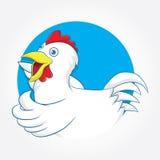 Azul del círculo del pollo Foto de archivo libre de regalías