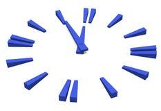 Ejemplo azul del reloj Foto de archivo libre de regalías